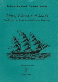 """Lines, Planes and Solids."" Studies in the Seventeenth-Century Writings"